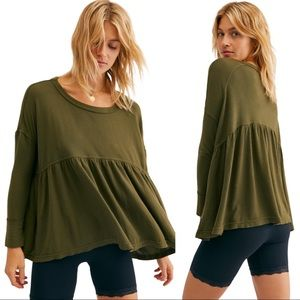 NWOT Free People Forever Your Girl Babydoll Top